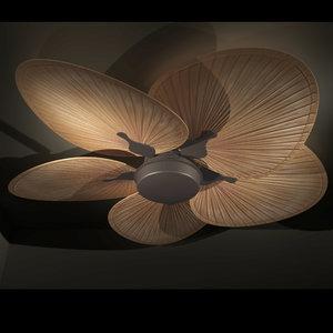 palm leaf ceiling fan 3D model