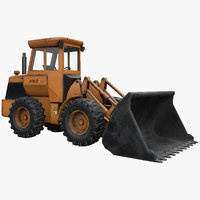 rigged wheel loader midpoly 3D