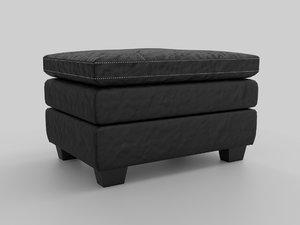 3D gleason chair ottoman