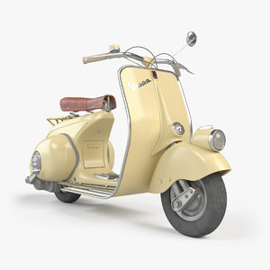 3D vespa 1946 vehicle model