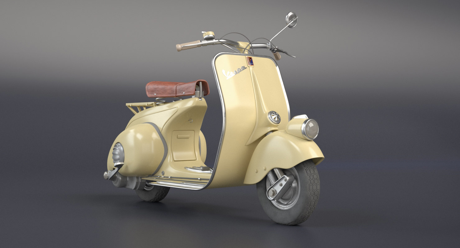 3D vespa 1946 vehicle model