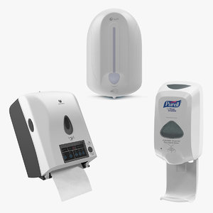3D model dispensers hand sanitizer
