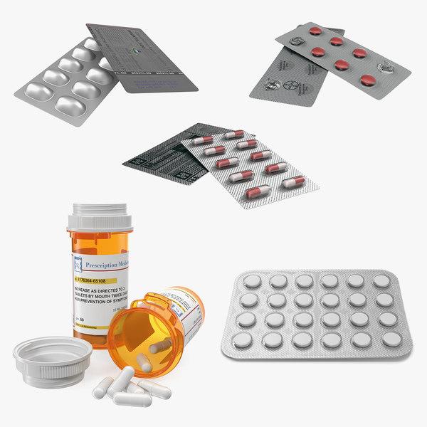 3D pills packs