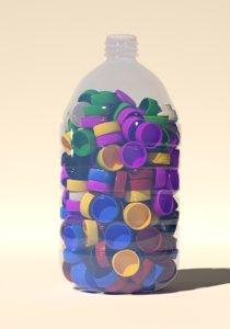 3D pet bottle caps