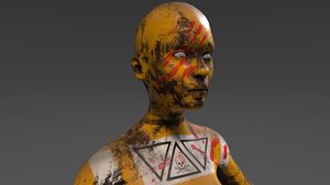 3D android tribe model