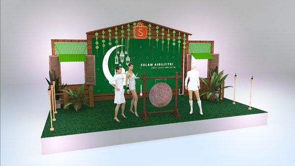 malay stage 3D model
