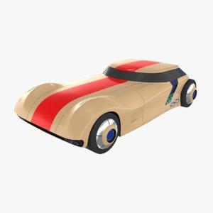 3D model futuristic toy car
