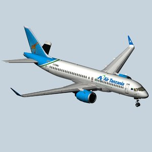 3D airbus a220 300 air