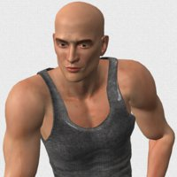 strong handsome sporty 3D model