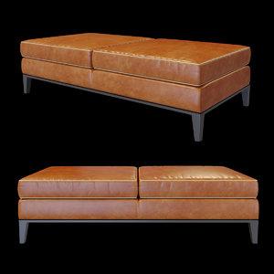 baxter godard panca bench 3D model