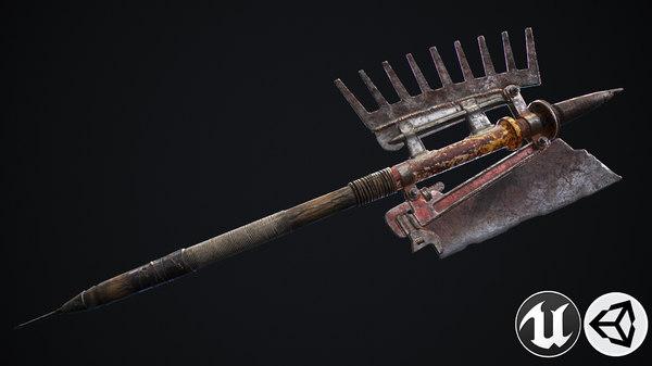 handed axe 3D