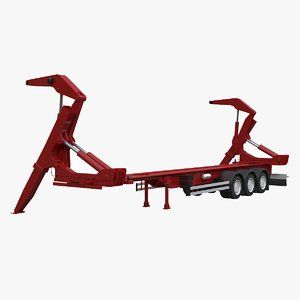 sidelifter semi trailer 3D model