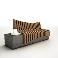 3D street furniture model