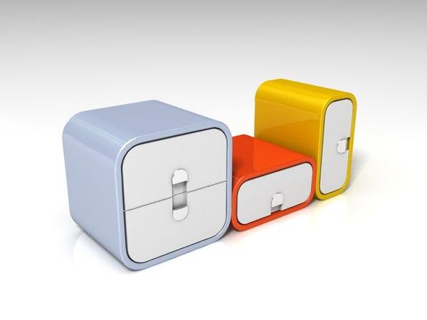 portable locker design 3D model