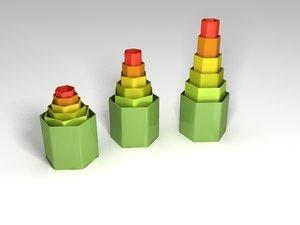 3D creative vase printing model