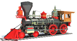 leviathan steam locomotive 3D