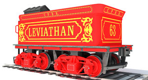 3D steam locomotive tender