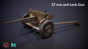 ww2 37mm anti tank model