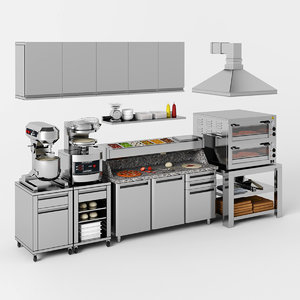 equipment pizzeria 3D