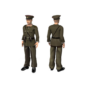 3D model north korean army
