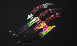 combat knife 3D