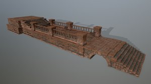 column stairs stone 3D