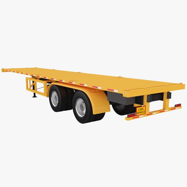 40ft trailer platform 3D model