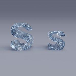 3D model letter s