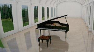 grand piano 3D