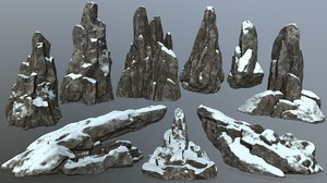 3D rock snow