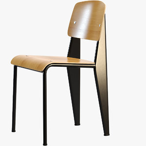3D model vitra standard chair