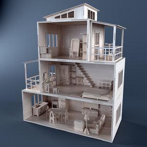 dollhouse plywood model