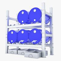barrel rack 3D