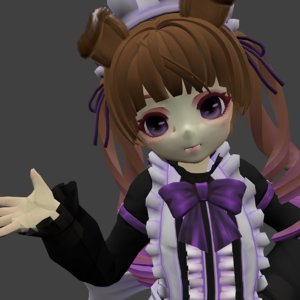 3D cute doll model