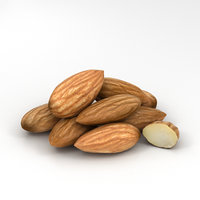 3D almond nut food