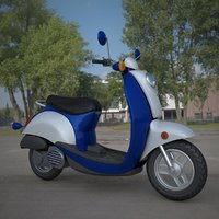 electric motorcycle 3D model