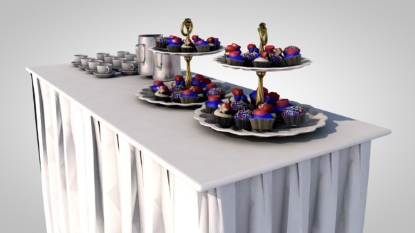 3D buffet table coffee