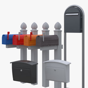 mail box set 3D model