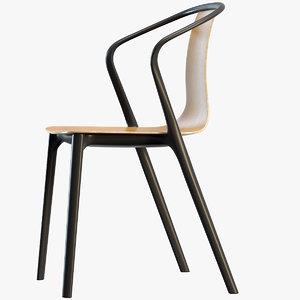 belleville armchair wood 3D model