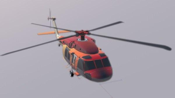 black hawk 3D model