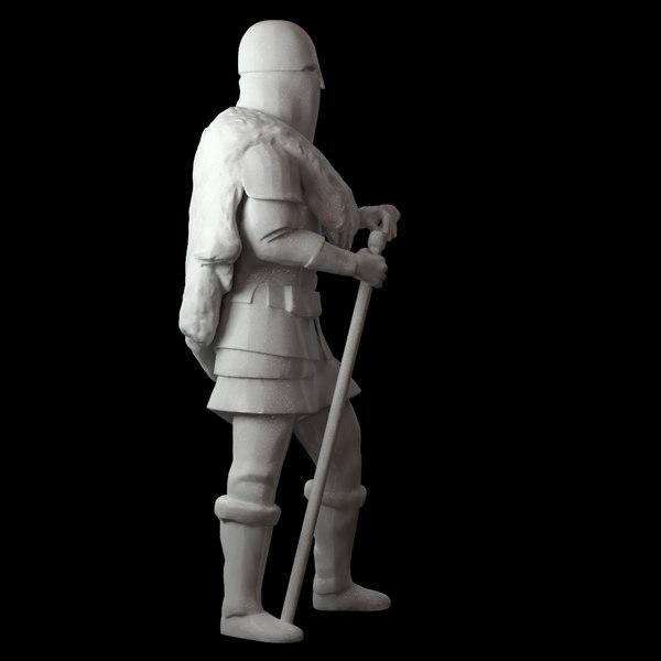 weapon warrior fighter 3D model