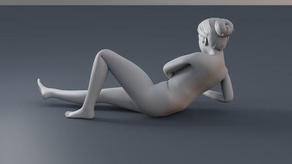 female sexy pose 3D