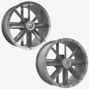 3D axial water turbine