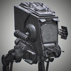 rigged at-st walker 3D