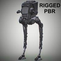 rigged at-st walker 3D