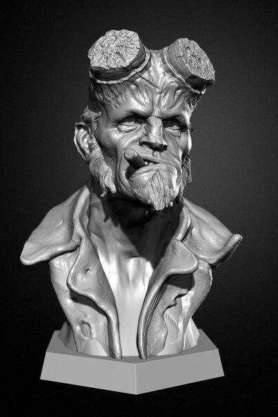 3D ztl hellboy