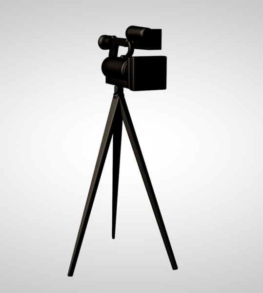 camera tripod 3D model
