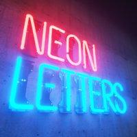 3D neon letters