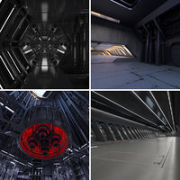 4 Sci Fi Interiors Set #3