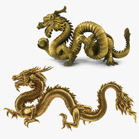 3D chinese dragons model